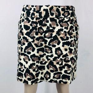 LOFT Cheetah Print Career Pencil Skirt Sz 6